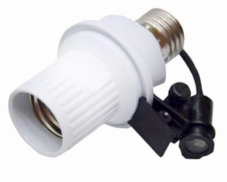 Fitting lampu dengan photocell